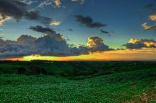 Sunset at Bukidnon, Philippines.