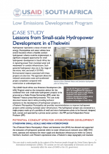 Photo Lessons from Small-Scale Hydropower Development in eThekwini