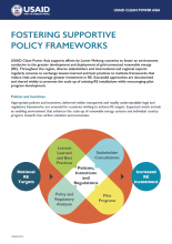 Fostering Supportive Policy Frameworks Factsheet