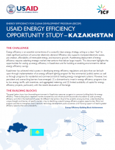 USAID Energy Efficiency Opportunity Study - Kazakhstan