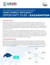 USAID Energy Efficiency Opportunity Study - Kazakhstan