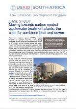 Case Study – Moving Towards Carbon Neutral Wastewater Treatment Plants: The Case for Combined Heat and Power photo