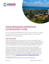 USAID Programs Supporting Climate-Smart Cities