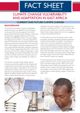 Climate Change Vulnerability and Adaptation in East Africa: Current and Future Climate Change