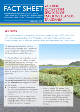 Fact Sheet: Valuing Ecosystem Services of Mara Wetlands, Tanzania