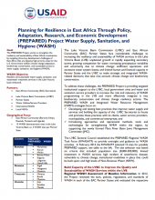 Planning for Resilience in East Africa Through Policy, Adaptation, Research, and Economic Development (PREPARED) Project: Water Supply, Sanitation, and Hygiene