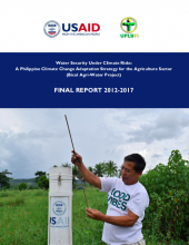 Water Security Under Climate Risks: A Philippine Climate Change Adaptation Strategy for the Agriculture Sector (Bicol Agri-Water Project) - Final Report 2012-2017