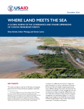 Report Brief: Where Land Meets the Sea: A Global Review of the Governance and Tenure Dimensions of Coastal Mangrove Forests
