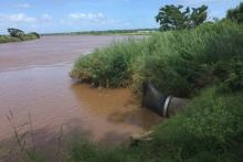 The Xai Xai Sewage outlet