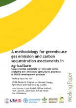 A methodology for greenhouse gas emission and carbon sequestration assessments in agriculture