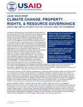 Climate Change, Property Rights, & Resource Governance