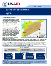 Climate Change Risk Profile: Syria