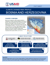 Climate Change Risk Profile: Bosnia and Herzegovina