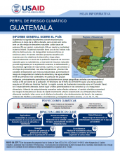 Climate Risk Profile: Guatemala (Spanish)