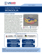 Climate Change Risk Profile: Mongolia