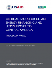 Critical Issues for Clean Energy Financing and LEDS Support to Central America