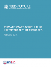 Climate Smart Agriculture in Feed the Future Programs
