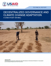 Decentralized Governance and Climate Change Adaptation