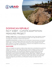 DR Fact Sheet: Climate Adaptation Measures Project