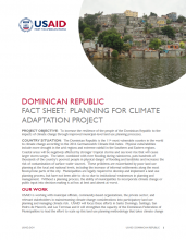 DR Fact Sheet: Planning for Climate Adaptation Project