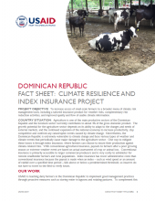 DR Fact Sheet: Climate Resilience and Index Insurance Project