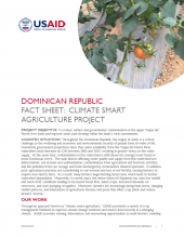 DR Fact Sheet: Climate Smart Agriculture Project