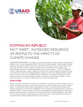 DR Fact Sheet: Increased Resilience of People to Climate Change