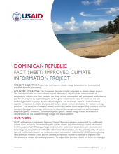 DR Fact Sheet: Improved Climate Information Project