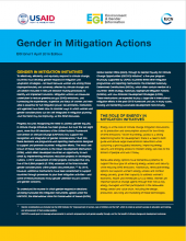 Gender in Mitigation Actions