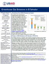 GHG Emissions Factsheet: El Salvador