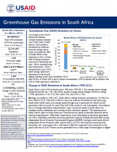 Greenhouse Gas Emissions Factsheet: South Africa