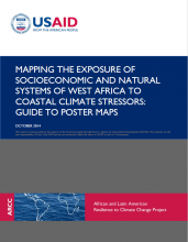 Mapping the Exposure of Socioeconomic and Natural Systems of West Africa to Coastal Climate Stressors: Guide to Poster Maps
