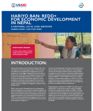 Hariyo Ban: REDD+ for Economic Development in Nepal