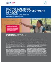 Hariyo Ban: REDD+ for Economic Development in Nepal