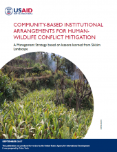 Community-Based Institutional Arrangements for Human-Wildlife Conflict Mitigation: A Management Strategy Based on Lessons Learned from Sikkim Landscape