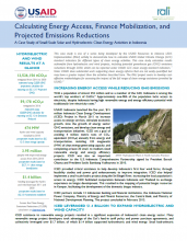 Calculating Energy Access, Finance Mobilization, and Projected Emissions Reductions