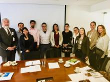 El equipo de RALI sobre armonizar MRV de GEI en Colombia incluye representantes del MADS, IDEAM, USAID/Colombia, USAID RALI, y USAID Washington.