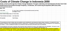 Indonesia: Costs of Climate Change 2050 – Spreadsheets
