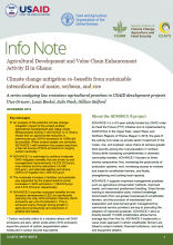 Info Note: Agricultural Development and Value Chain Enhancement Activity II in Ghana: Climate change mitigation co-benefits from sustainable intensification of maize, soybean and rice