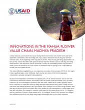 Innovations in the Mahua Flower Value Chain, Madhya Pradesh
