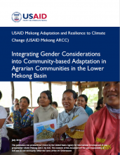 Integrating Gender Considerations into Community-Based Adaptation in Agrarian Communities in the Lower Mekong Basin