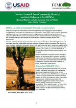 Lessons Learned from Community Forestry and Their Relevance for REDD+: Regional Reports on Latin America, Asia and Africa and a Global Overview