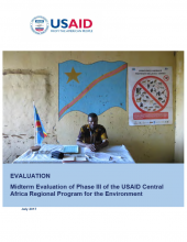 Midterm Evaluation of Phase III of the USAID Central Africa Regional Program for the Environment