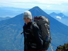 Dani Newcomb on top of one of the 15 volcanoes she has hiked in Guatemala