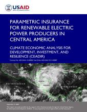 Parametric Insurance for Renewable Electric Power Producers in Central America photo