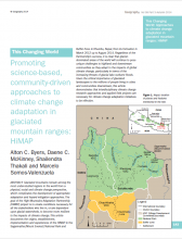 Promoting Science-based community-driven approaches to climate change adaptation in glaciated mountain ranges: HiMAP