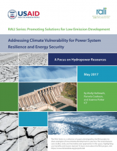 Planning for Hydropower Resilience in a Changing Climate:  a four step approach to addressing risk