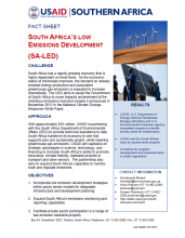 Factsheet: South Africa's Low Emissions Development (SA-LED)
