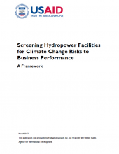 Screening Hydropower Facilities for CC Risks to Business Performance