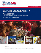 Climate Vulnerability Assessment: An Annex to the USAID Climate-Resilient Development Framework